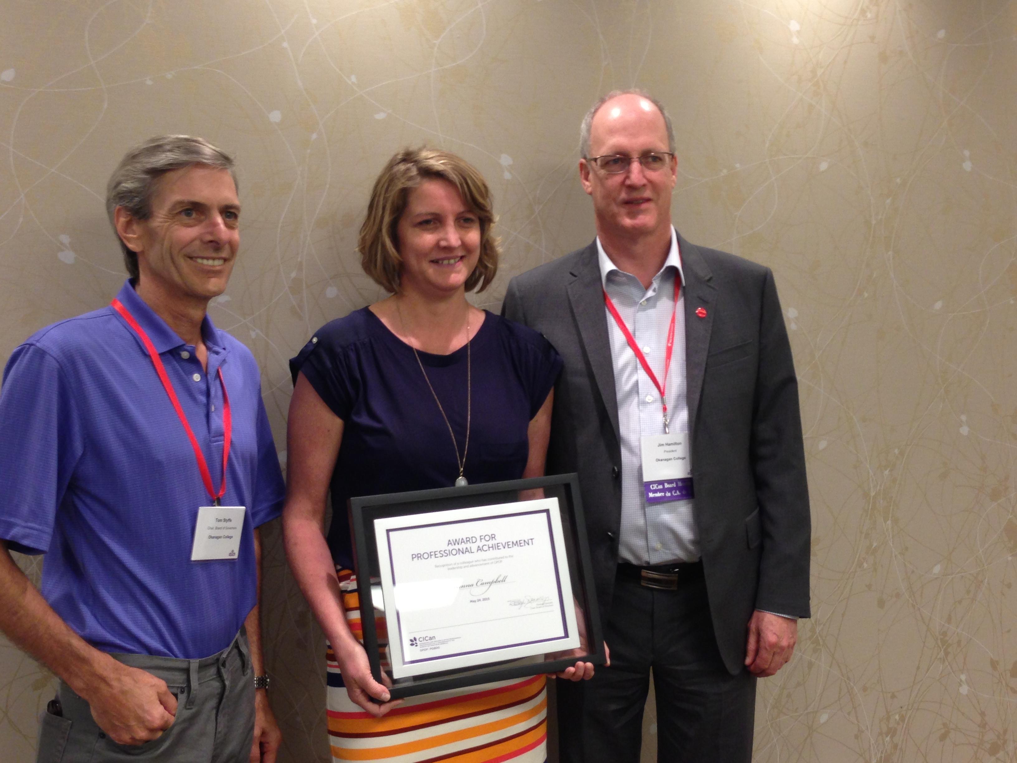 awards grants joanna campbell professional achievement award 2015